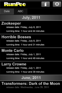 RunPee for iPhone