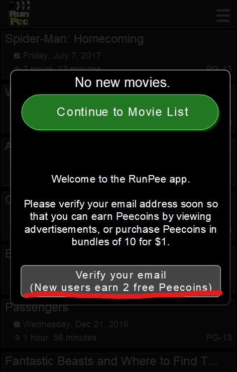 list Pee movie