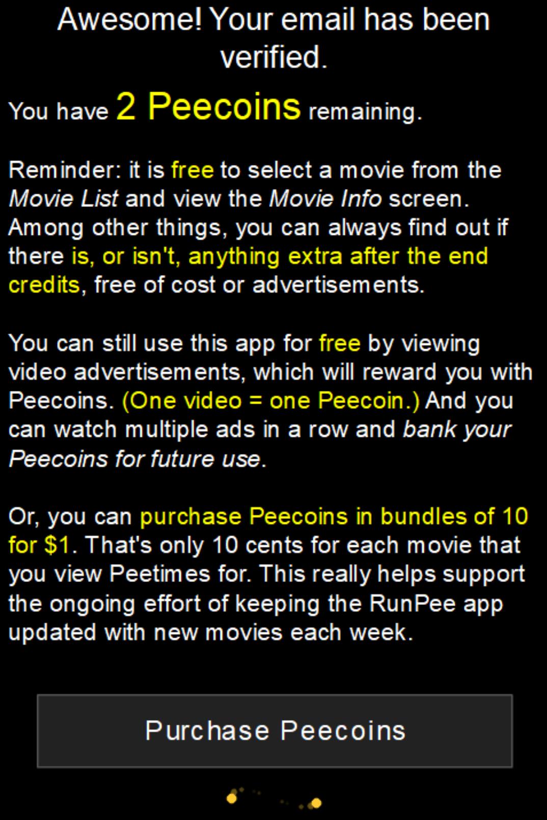 movie list Pee