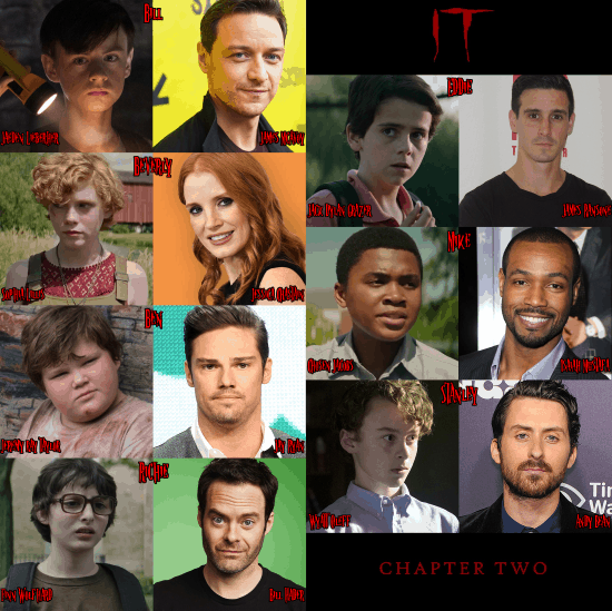 cast actors from It chapter 1 and 2
