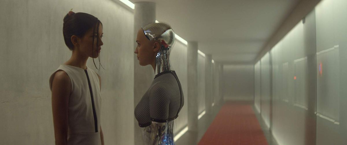 Ex Machina, starring Alicia Vikander, Domhnall Gleeson, Oscar Isaac