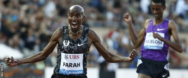 Farah was delighted to take victory
