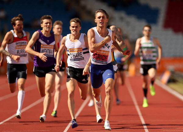 Charlie Grice would come back to defend his 1500m title