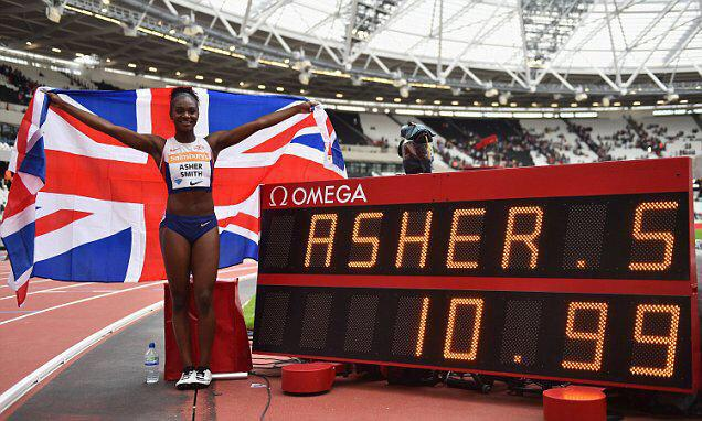 Dina Asher-Smith has broken the national record twice this year