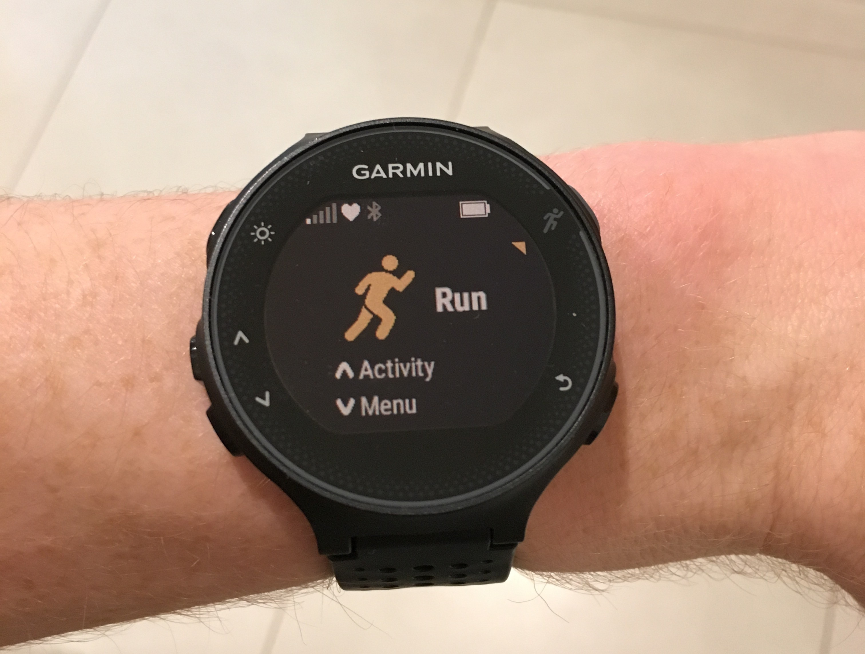 Watch with wrist hrm -  Run Activity Page