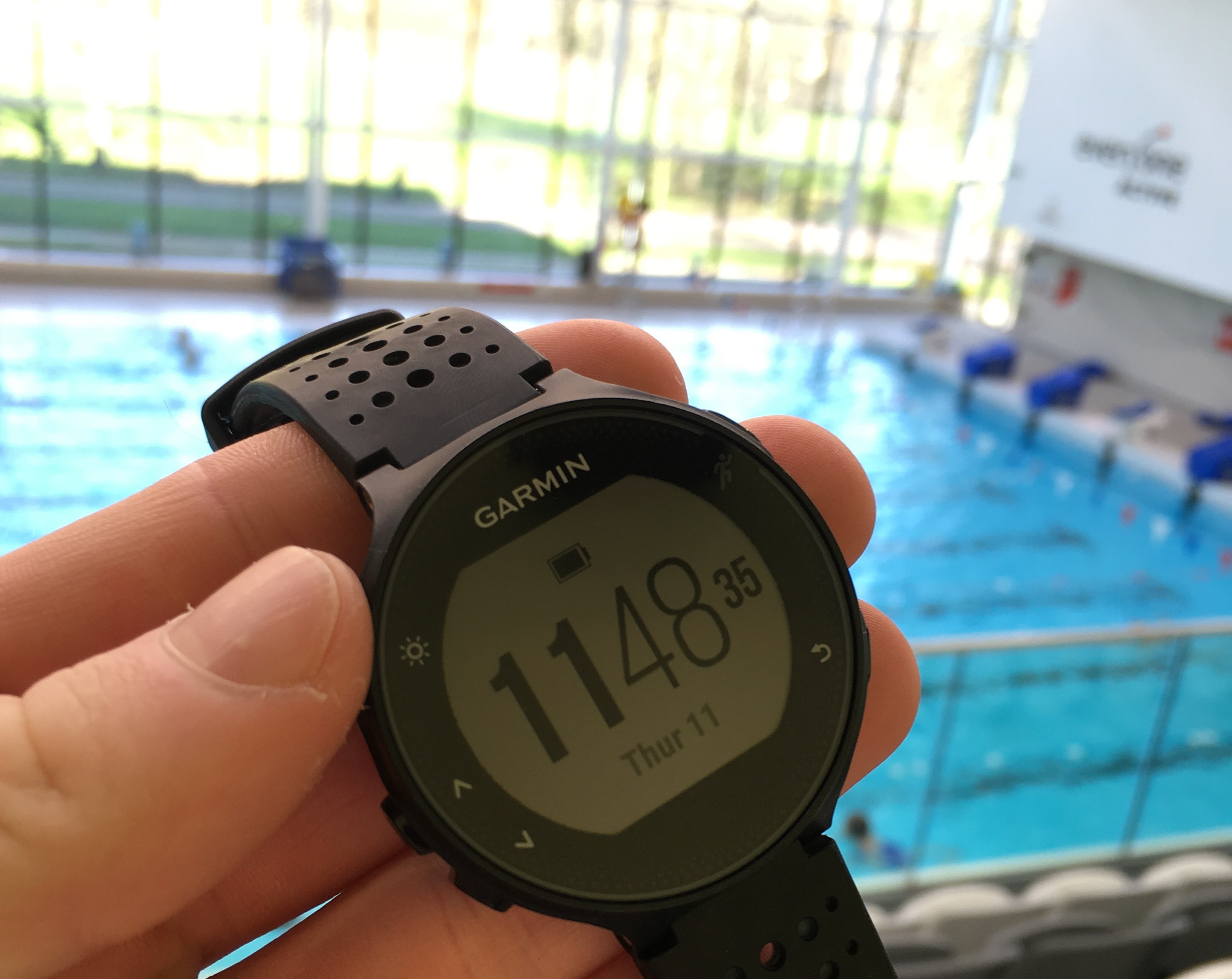 Swimming With The Garmin Forerunner 235 Run Reporter