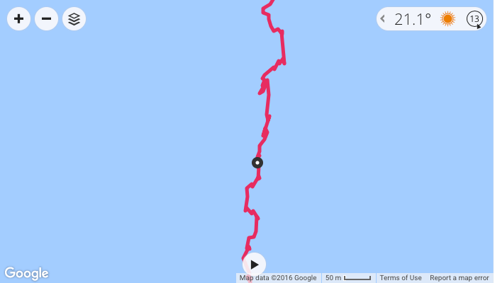 Poor route tracking whilst open water swimming