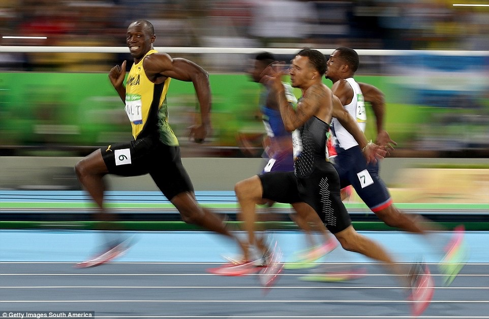 No one could live with Bolt over the 100m either