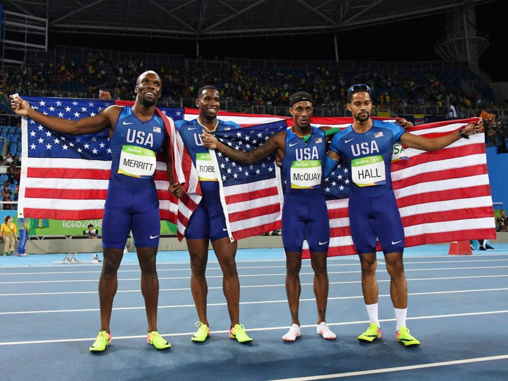 Men's 4x400m dominated by Team USA