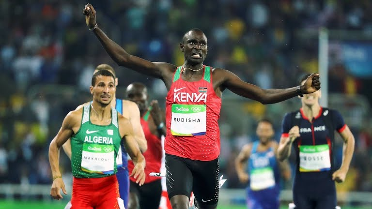 Rudisha runs 1:42 to win gold