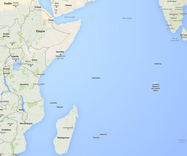 Mapa Seychelle