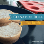 Cinnamon roll fat bombs from runrunlolo.com