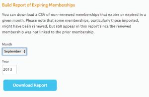 Member Expiration Report Download