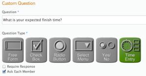 Custom Questions - Time Format