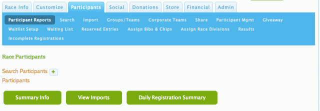 Daily Registration Report