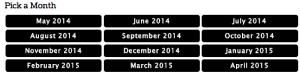 Rolling Race Calendar