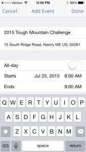 iPhone Calendar