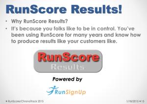 RunScore Results Presentation