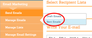 Draft and Sent Emails