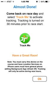 RaceJoy Enable Tracking