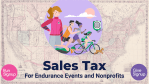 Arkansas, California, Massachusetts, Maine, Maryland, Rhode Island, Virginia and Vermont are now live on the RunSIgnup Sales Tax System