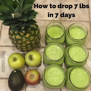 How to drop 7lbs