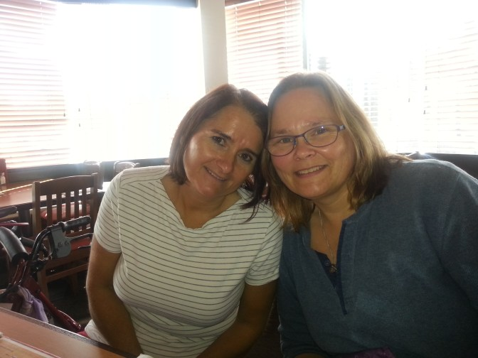 With my cousin, Nelda - BFFs forever