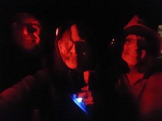 Me, John and Yvonne - shooting the Aurora