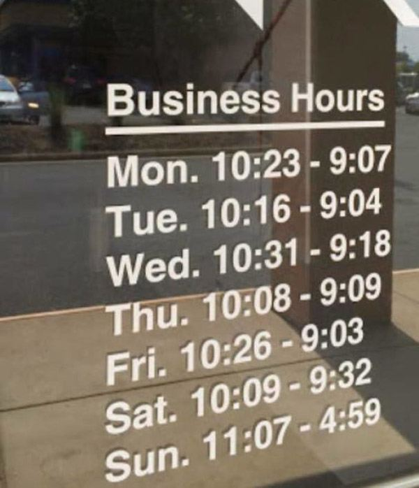WTF Business Hours