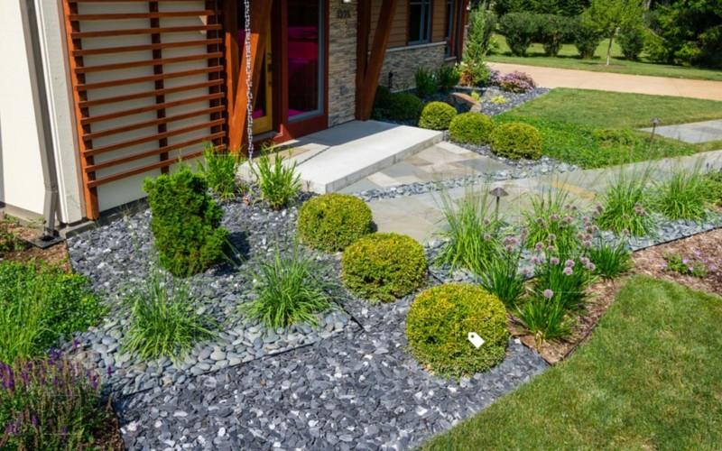 25 Rock Garden Designs Landscaping Ideas for Front Yard ... on Rocks For Backyard  id=88346