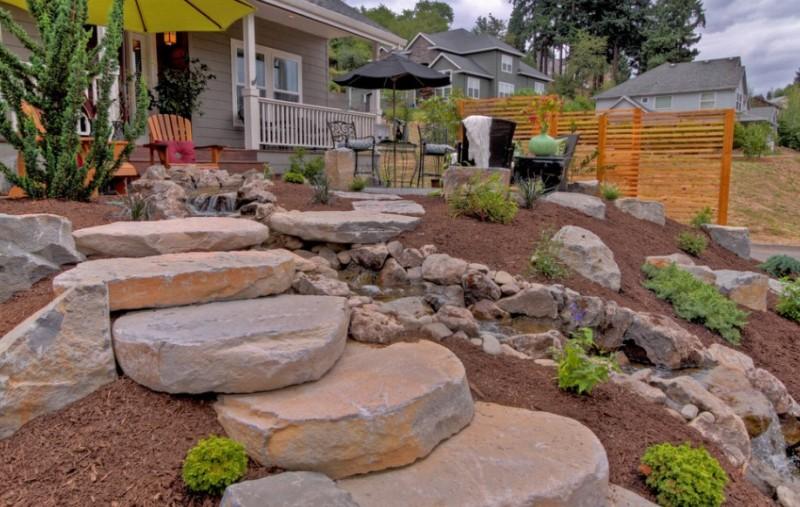 25 Rock Garden Designs Landscaping Ideas for Front Yard ... on Backyard Rock  id=24617
