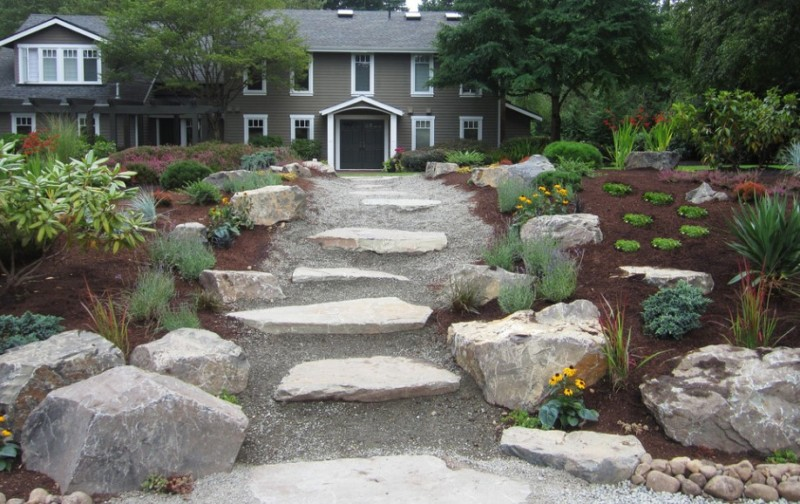 25 Rock Garden Designs Landscaping Ideas for Front Yard ... on Rocks In Backyard  id=71585