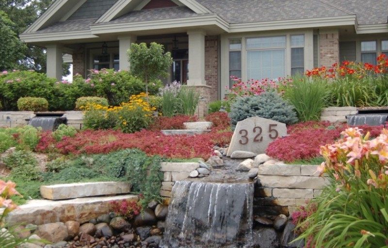 25 Rock Garden Designs Landscaping Ideas for Front Yard ... on Front Yard Patio Design Ideas  id=13866
