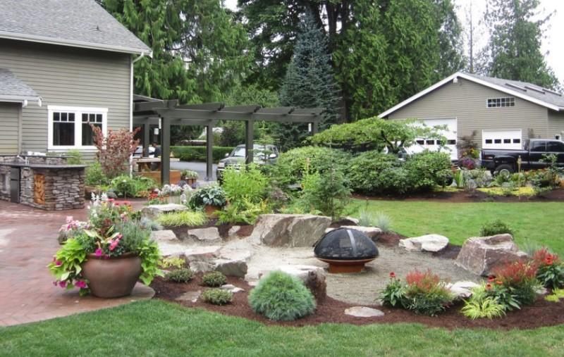 25 Rock Garden Designs Landscaping Ideas for Front Yard ... on Backyard Rock Designs id=13971