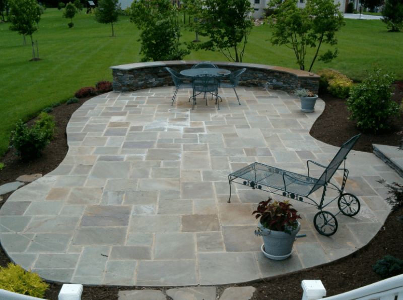 20+ Best Stone Patio Ideas for Your Backyard - Home and ... on Small Backyard Stone Patio Ideas id=49671