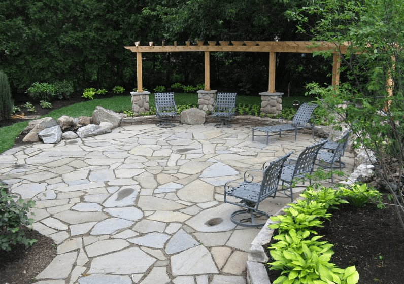 20+ Best Stone Patio Ideas for Your Backyard - Home and ... on Rock Patio Designs  id=31978