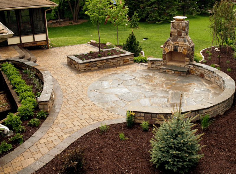 20+ Best Stone Patio Ideas for Your Backyard - Home and ... on Rock Patio Designs  id=25540