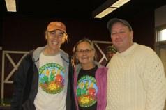 Richard Smith, Judy Godino, and Kevin O'Rourk (bagpiper).