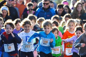 Starting line of Kids Run The Farm Race #2  - 6 & under age group. (Photo by Tom Casper)