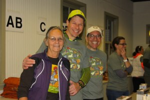 Judy, Mark, Barry, and Eleanor are some of the many volunteers for Run The Farm.