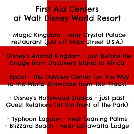 First Aid Centers at WDW