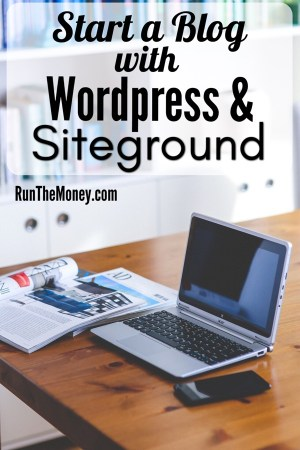 start a blog using WordPress