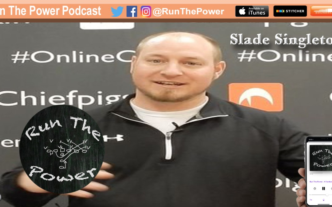 """""""Slade Singleton – Offensive Gameplan Using """"The Rule of 4"""" EP 046"""" Run The Power : A Football Coach's Podcast"""
