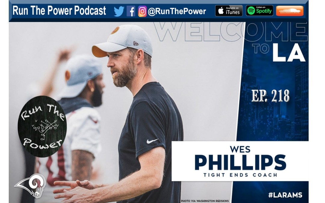 Wes Phillips – Wide Zone & Keepers/Naked's With the LA Rams Ep. 218″ Run The Power : A Football Coach's Podcast