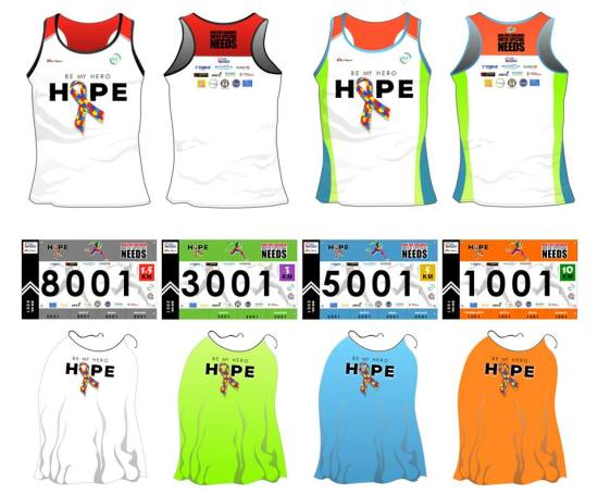 Hope Run 2016 - Singlet, Bib, Cape