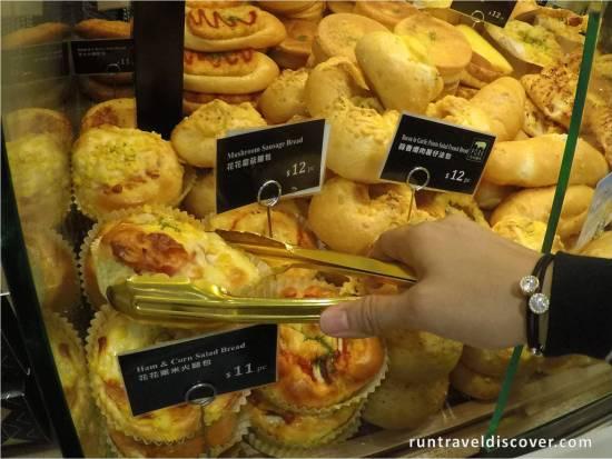 4 Day Hong Kong Trip - Ham and Corn Salad Bread