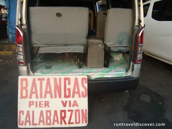 Puerto Galera - Batangas Pier Van