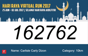 Hari Raya Virtual Run 2017 - Race Bib