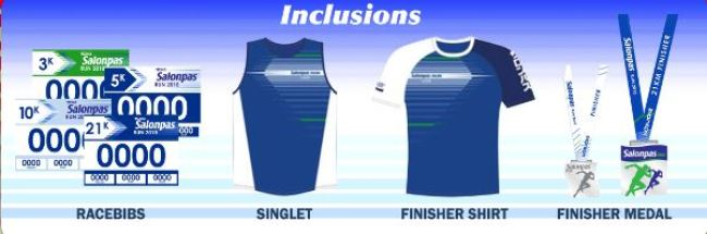 Salonpas Run 2018 - Race Kit Inclusions