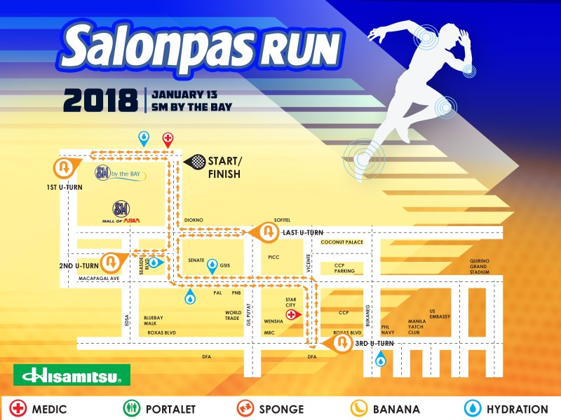 Salonpas Run 2018 - 10K Race Route